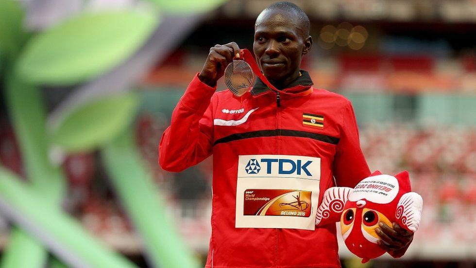 Ugandan marathoner Solomon Mutai in the Rio Olympics 2016