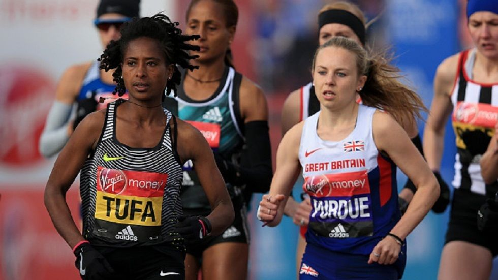 Ethiopian marathoner Tigist Tufa who will be representing her country in the Rio Olympics