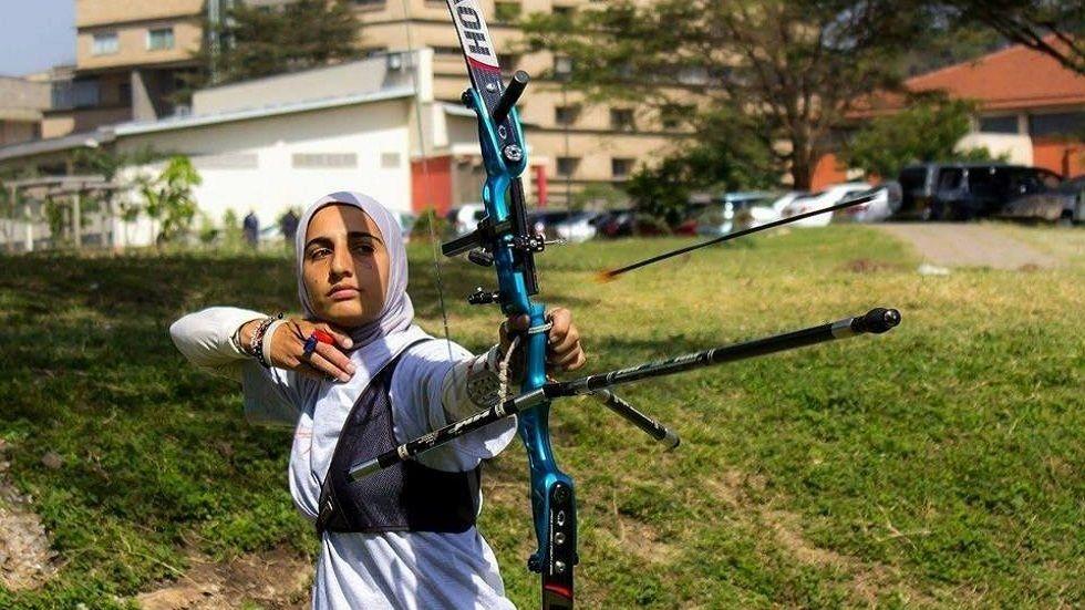 Kenyan archer Shehzana Anwar representing Kenya in Rio Olympics