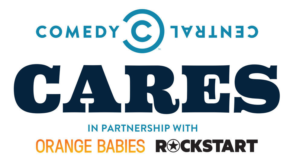 Comedy Central Cares logo.