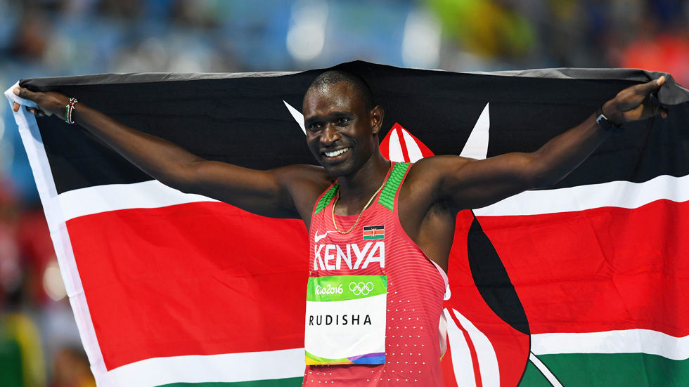 David Rudisha wins gold and makes history.