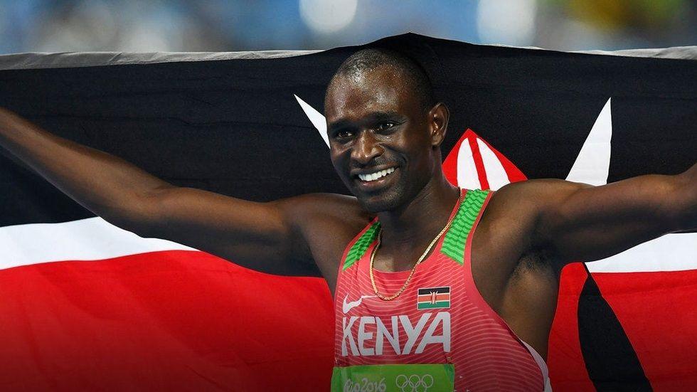 David Rudisha after winning gold in the Rio Olympics