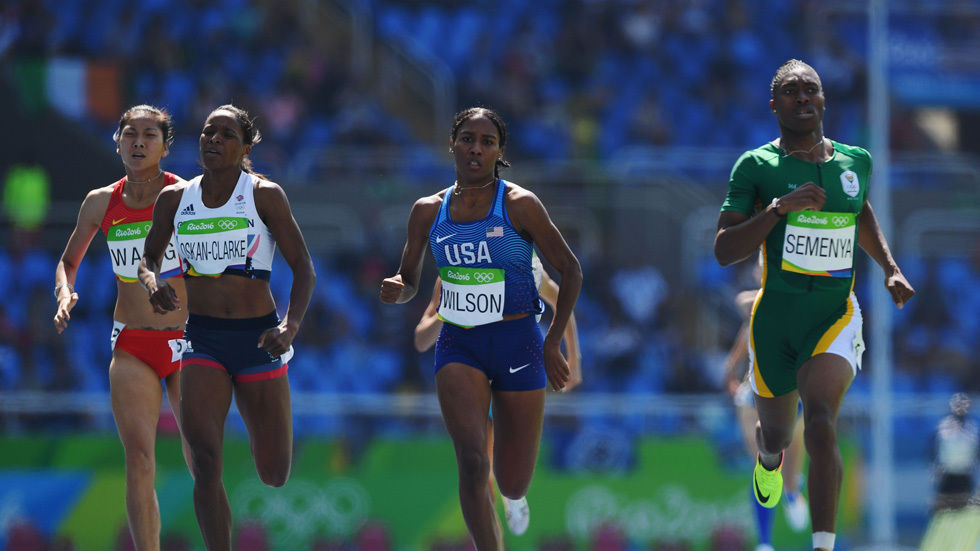 Caster Semenya qualifies for the semifinals.