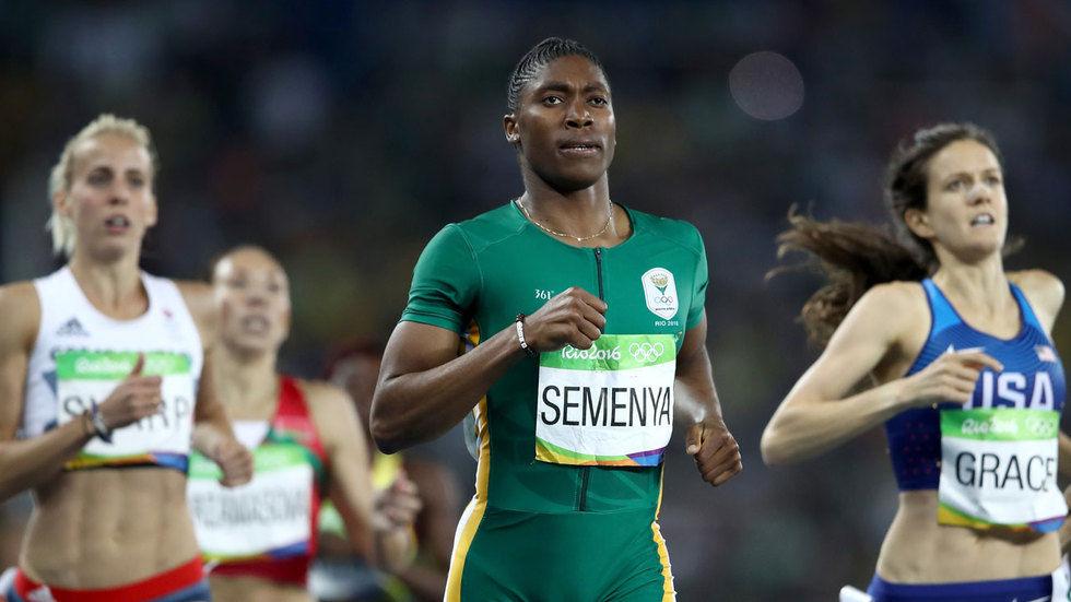 Caster Semenya running.