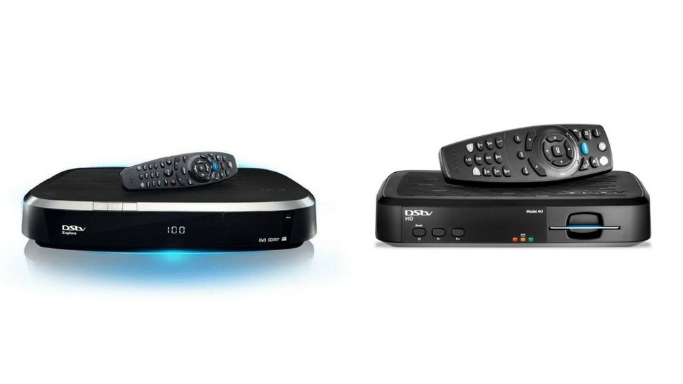DStv Explora and DStv HD decoders with their remotes