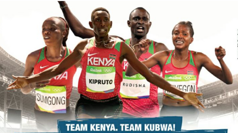 Team Kenya at the Rio Olympics