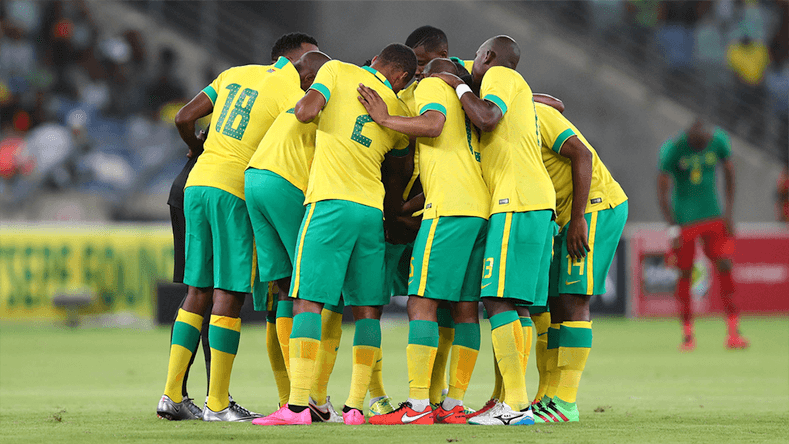 South African playrs before the game.