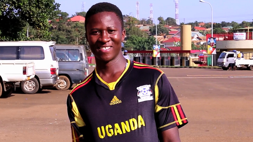 Ugandan football fan in Kampala