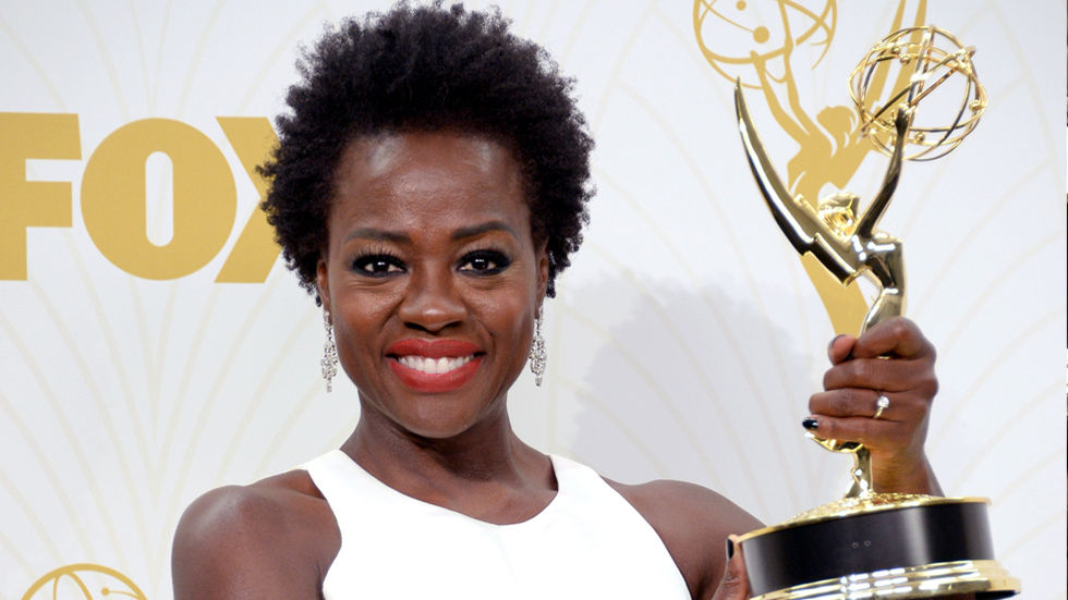 An image of Viola Davis at the 67th Emmy's