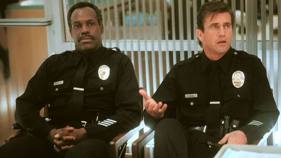 Danny Glover and Mel Gibson in Lethal Weapon.