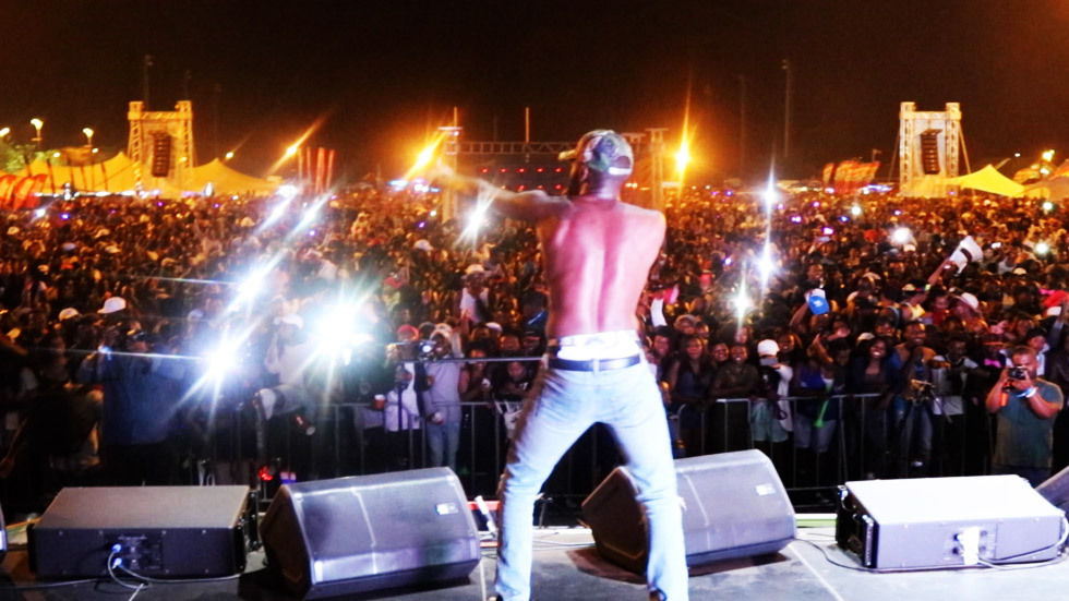 An image of Riky Rick on stage at DStv iRock