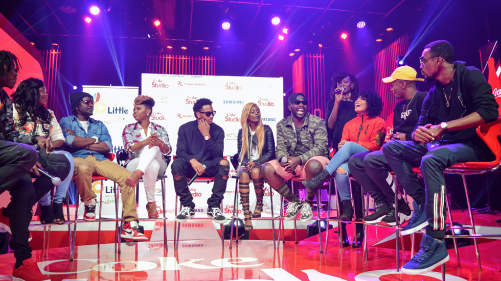 Coke Studio Africa S4 artists with Trey Songz