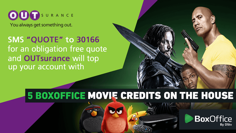 Brands on Demand - Outsurance with BoxOffice Promotion