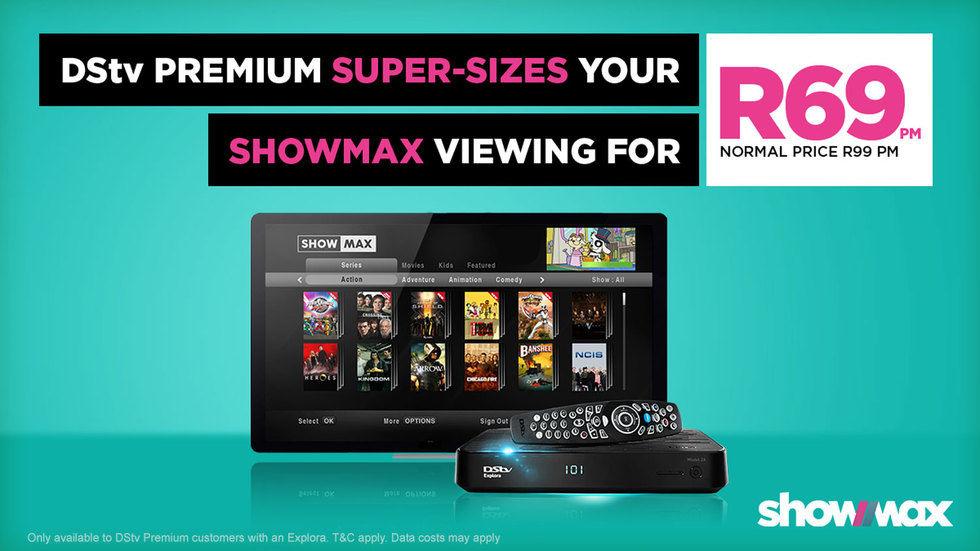 ShowMax discount banner.