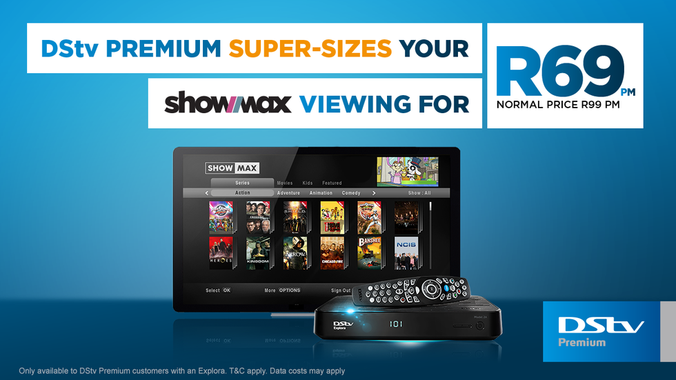 ShowMax discount for DStv Premium customers.