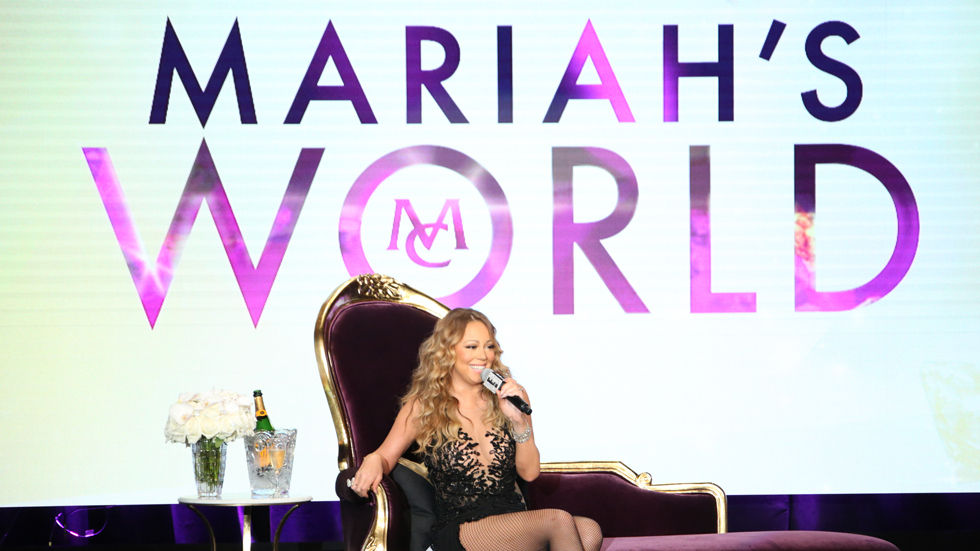 Mariah Carey in artwork for her reality show Mariah's World on E!