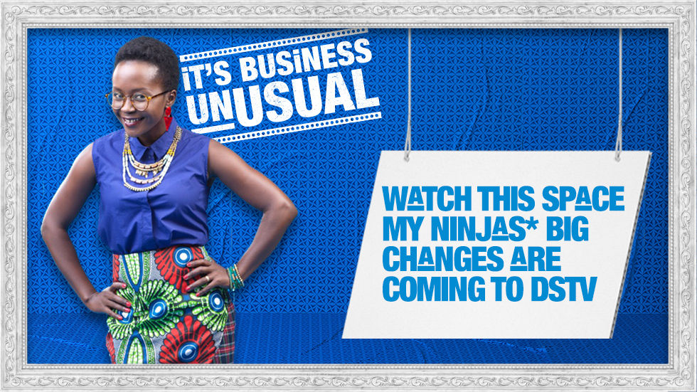 Artwork for the DStv Business Unusual campaign