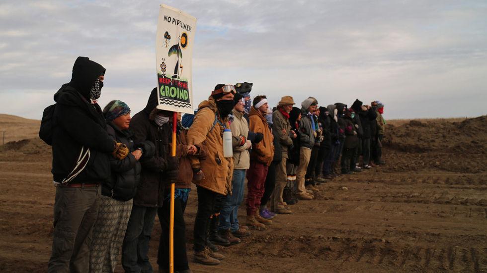 Artwork for the Al Jazeera documentary Standing Rock & The Battle Beyond