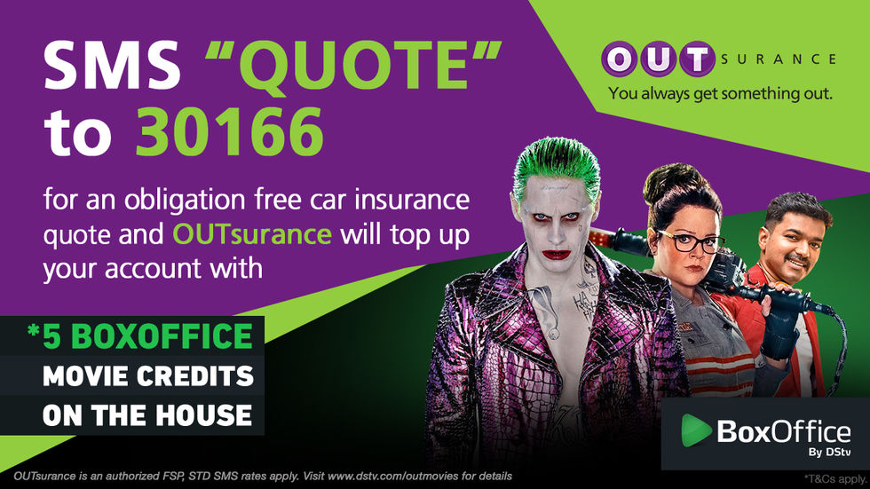 Get movie credits with BoxOffice and OUtsurance
