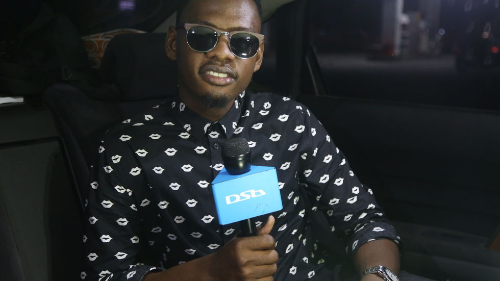 Ben Pol during an interview wit the DStv Mic