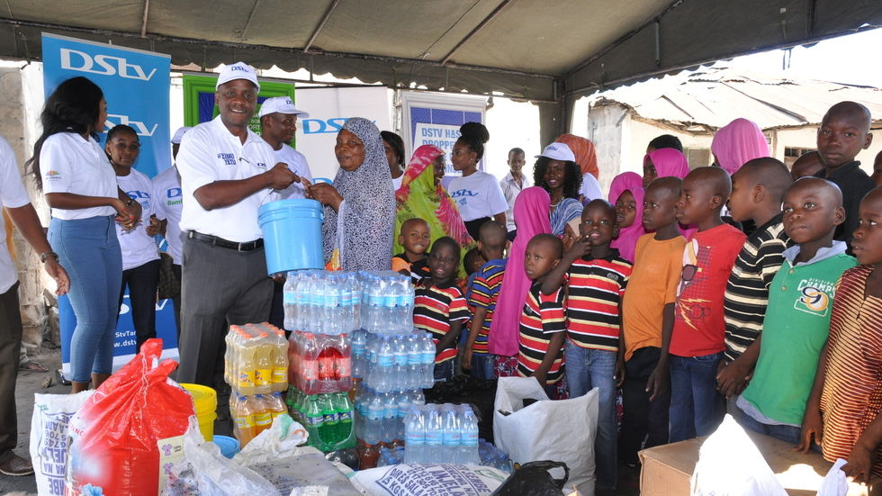 Maharage gives MultChoice Tanzania donation to Al Madina