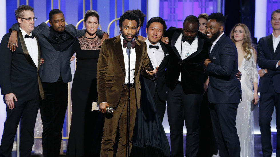 Donald Glover and Atlanta cast at 2017 Golden Globes