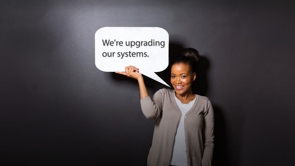 Artwork for upgrading our systems