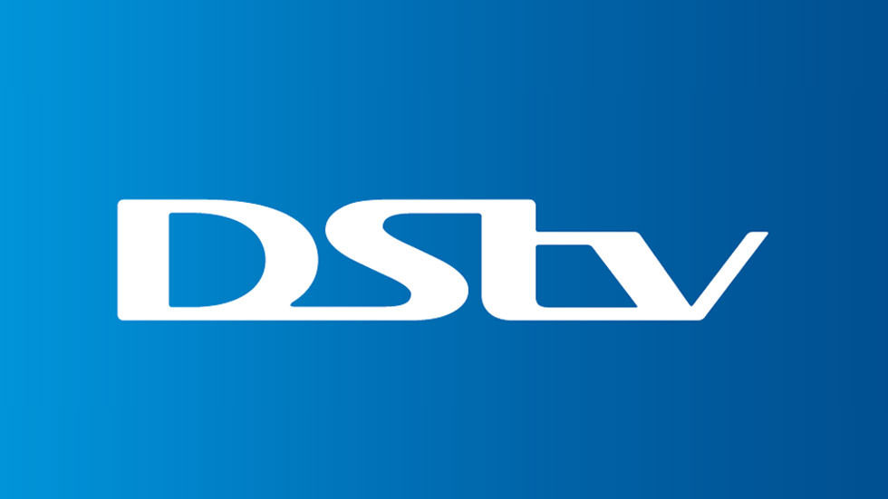 DStv logo with blue background.
