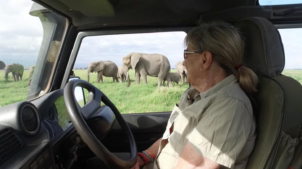 Dr Cynthia Moss at Amboseli Trust for Elephants