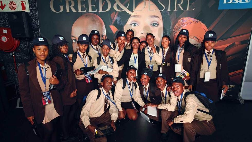 Grade 9 learners at the M-Net Magic in Motion Expo.