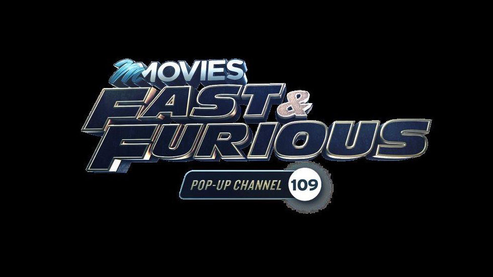 Logo for the Fast and Furious pop-up channel on DStv channel 109