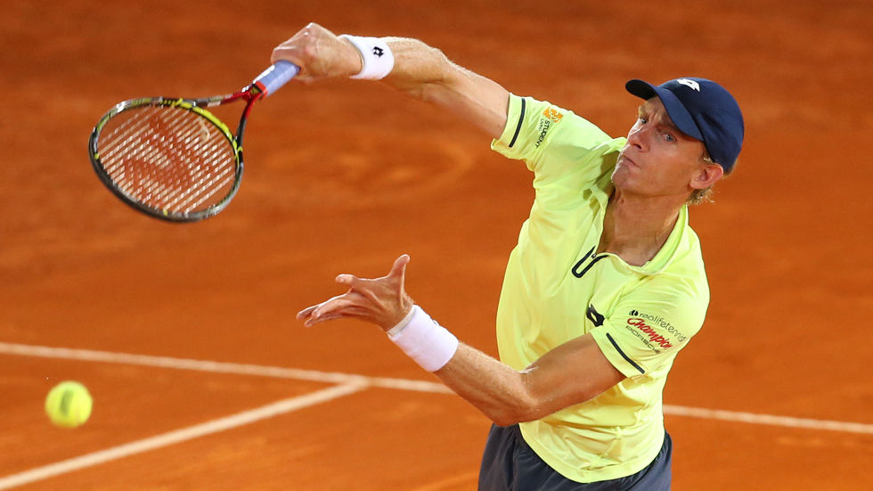 Kevin Anderson on clay