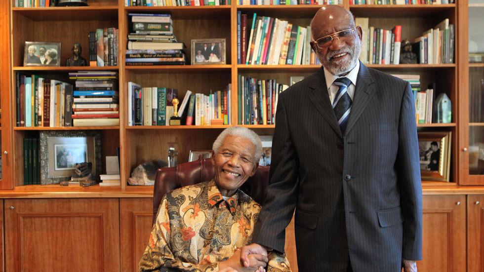 The Hon. Herman Andimba Toivo ya Toivo and the late Pres. Nelson Mandela.