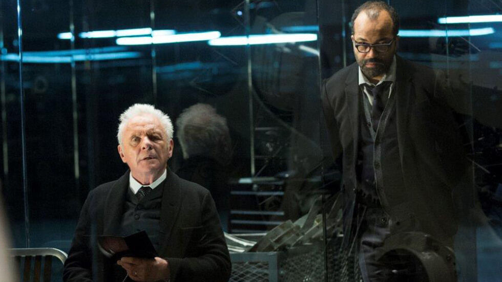 Anthony Hopkins in a scene from Westworld.