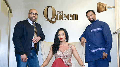 Connie Ferguson and the cast of The Queen on Mzansi Magic, DStv channel 161