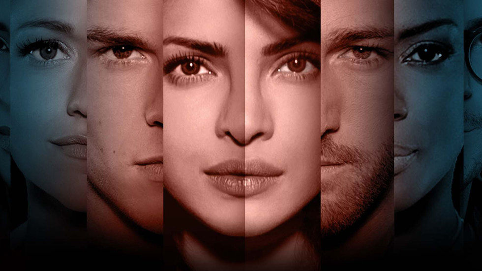 Priyanka Chopra as Alex Parrish in Quantico S2 promotional art along with other cast members.