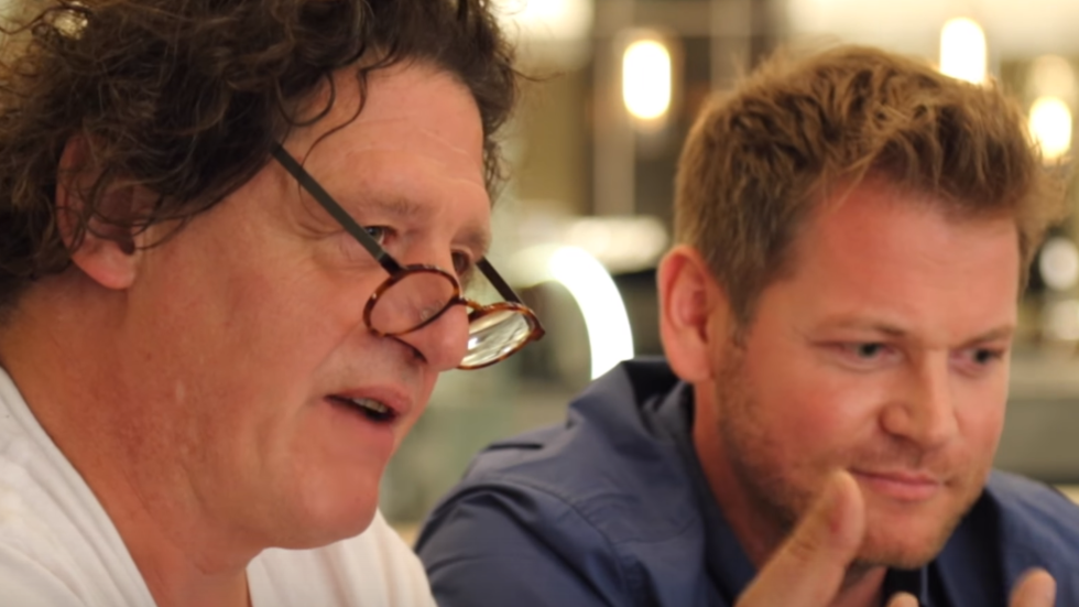 Marco Pierre White and Jan Hendrik van der Westhuizen