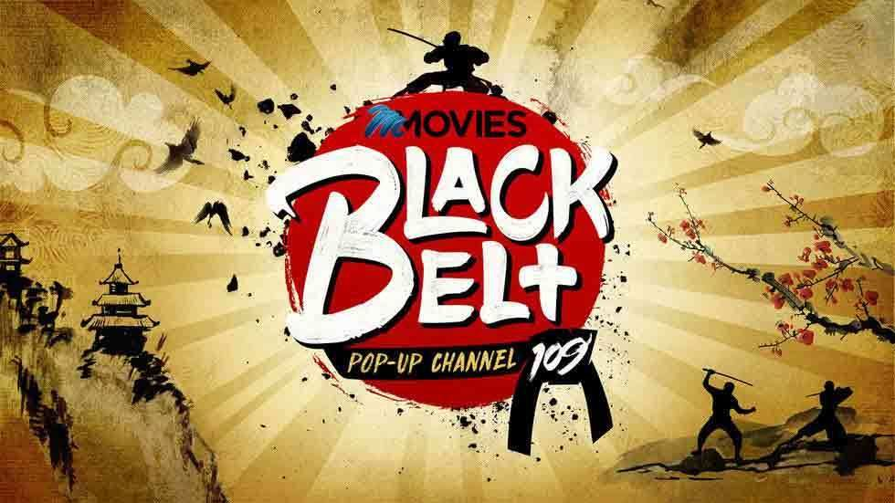 The logo for Black Belt pop up channel
