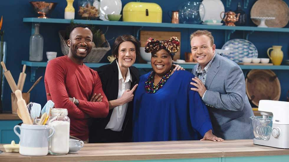 The Great South African Bake Off presenters.