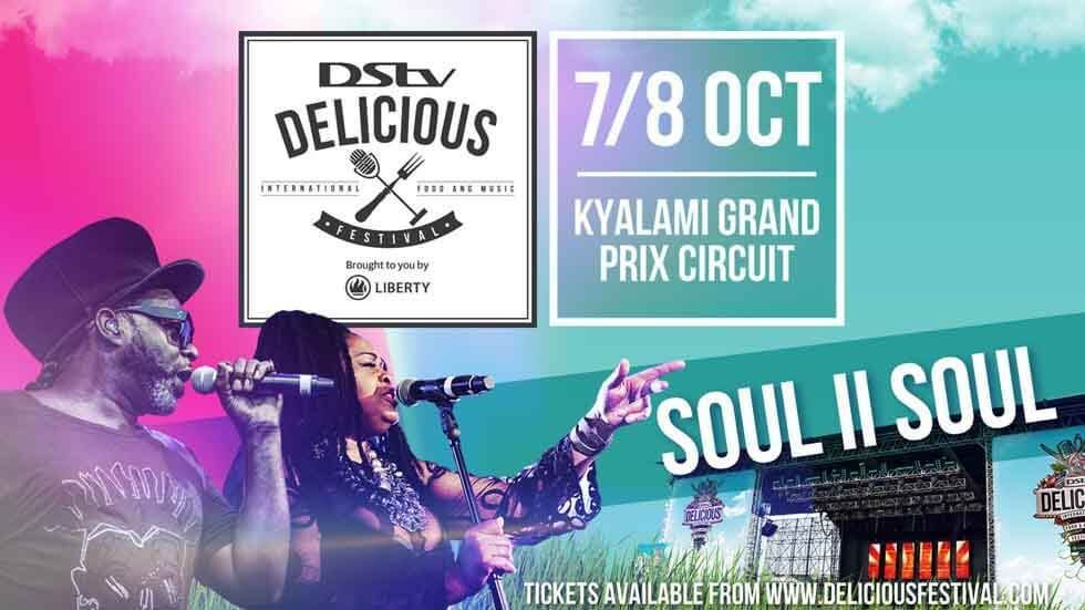 Soul II Soul at  DStv Delicious International Food & Music Festival.