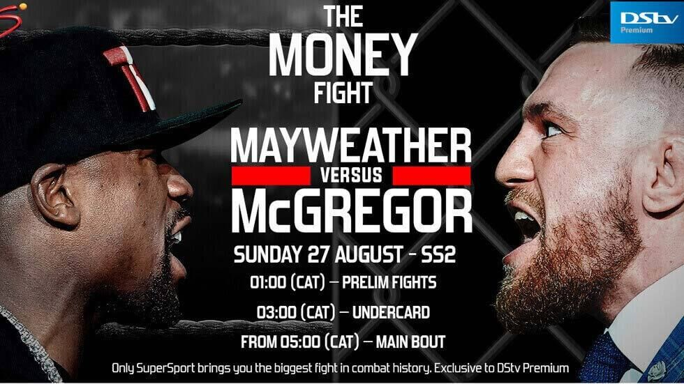 The Money Fight artwork with broadcast times.