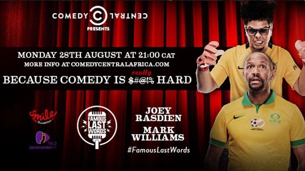 Joey Rasdien and Mark Williams on Famous Last Words.