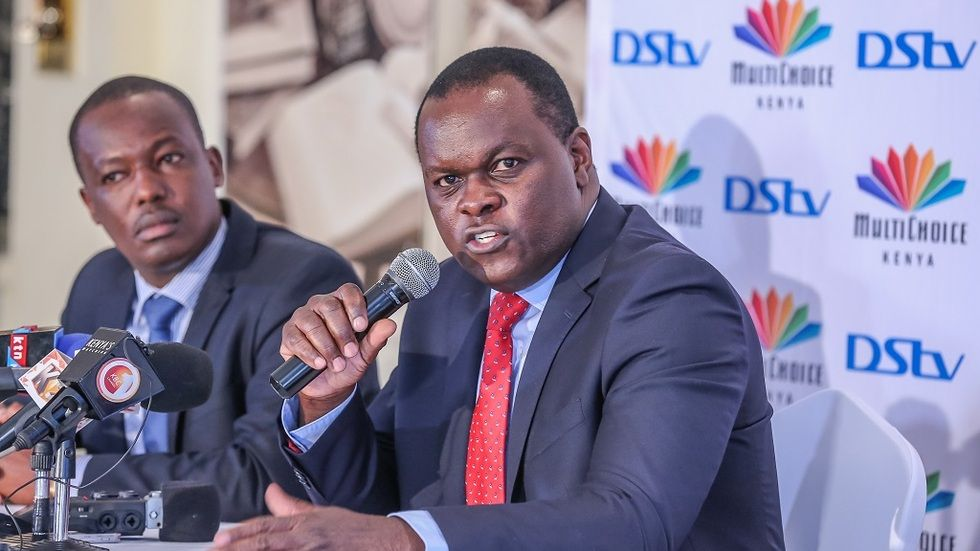 MultiChoice Managing Director Eric Odipo during the launch of Value Strategy Phase 3