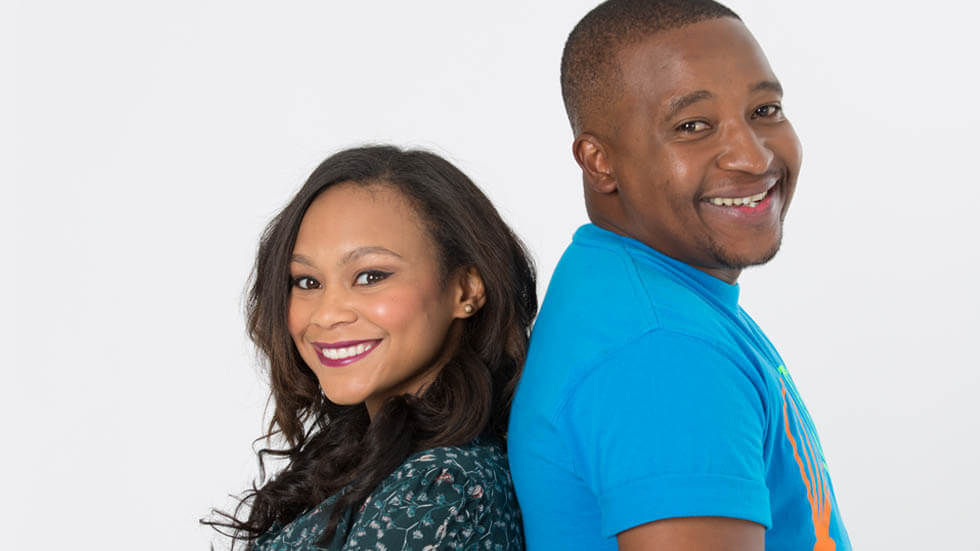 Kirsten Mohamed and Mthunzi Ntoyi who host Disney COokabout.