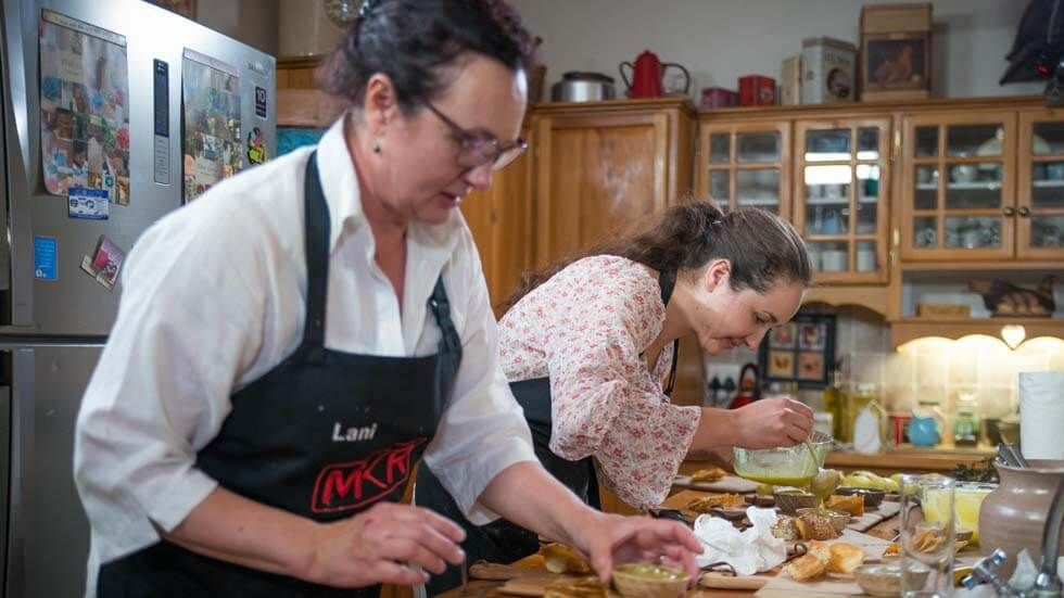 Lani and Louzel in My kitchen Rules South Africa.