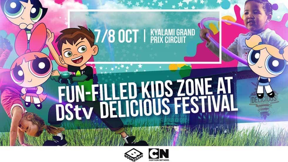 fun filled kids zone at DStv Delicious Festival