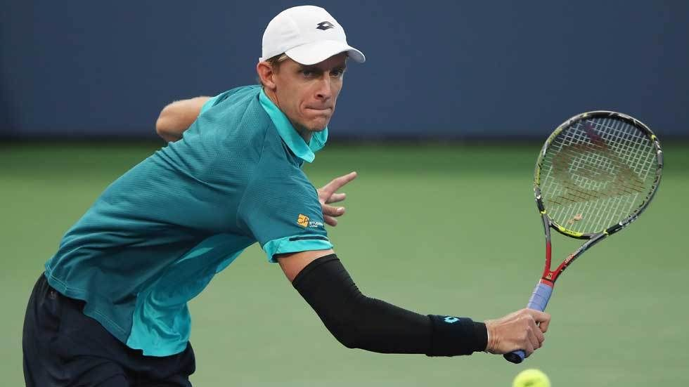Kevin Anderson in action.