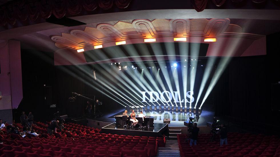 Idols SA stage with lights.