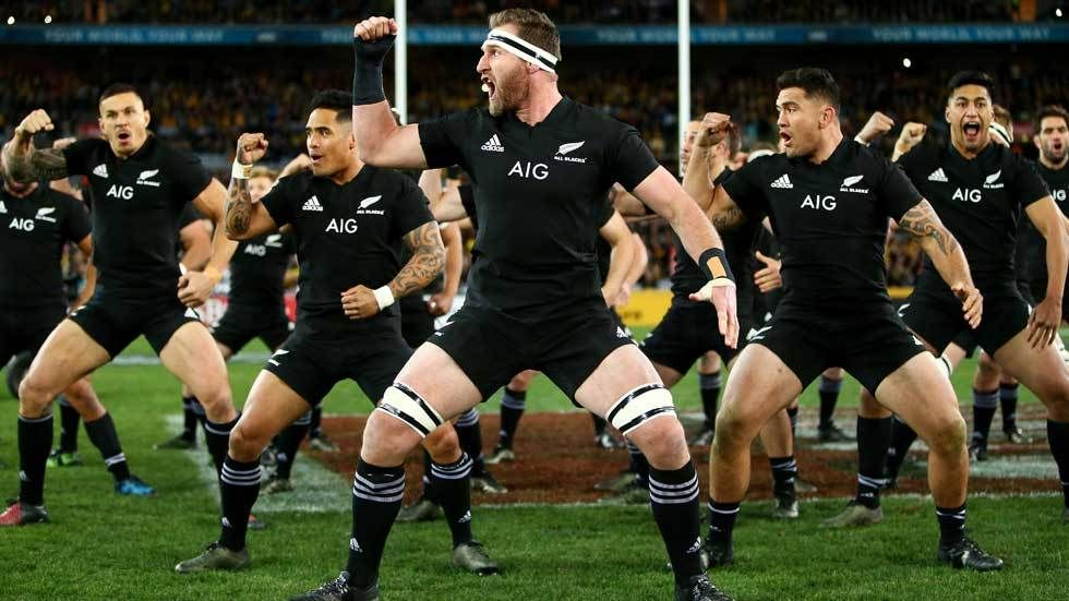 New Zealand skipper Karien Reed leads the Haka against the Wallabies.