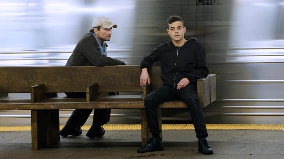 A scene from Mr Robot which can be binge-watched on Showmax.